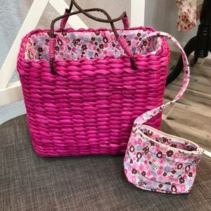 Pink Basket Purse